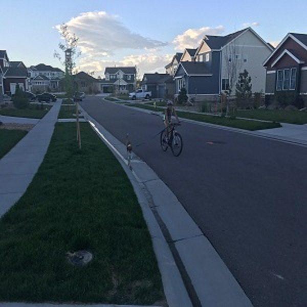 Biking with Auggie