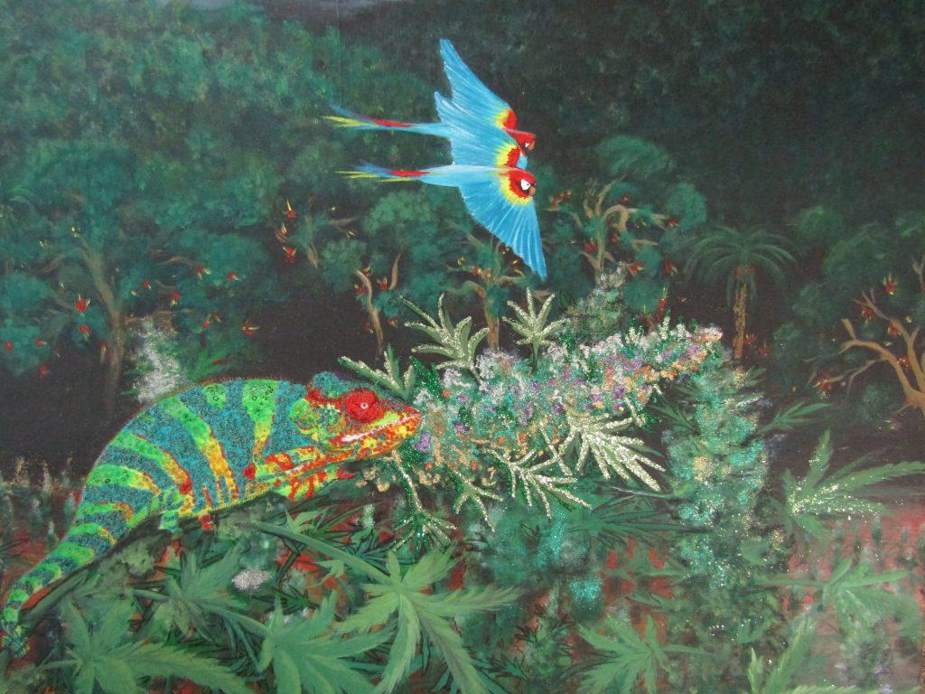 Chameleon in the Jungle-zoom