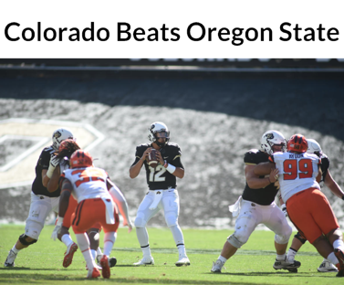 Colorado beats oregon state