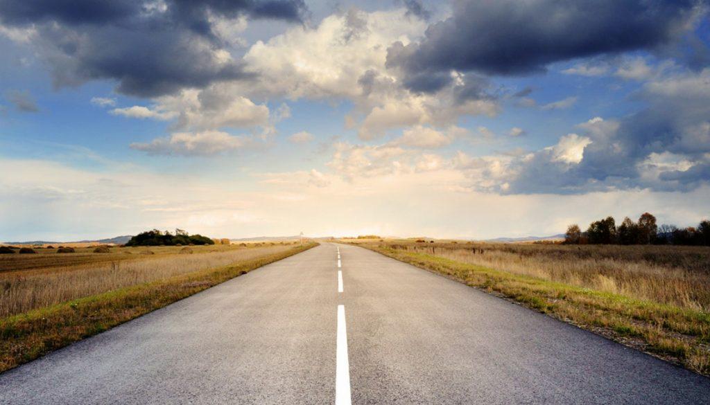 road-asphalt-space-sky