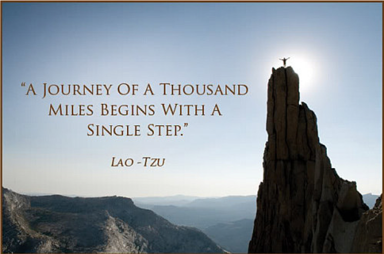 A journey of thousand miles begins with the first step