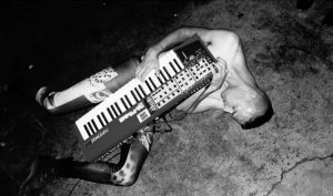 man with keyboard