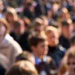 crowd of blurred men