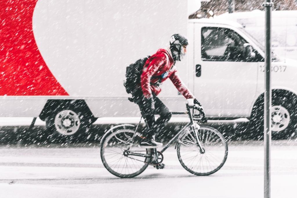 Bike Commute in Snow