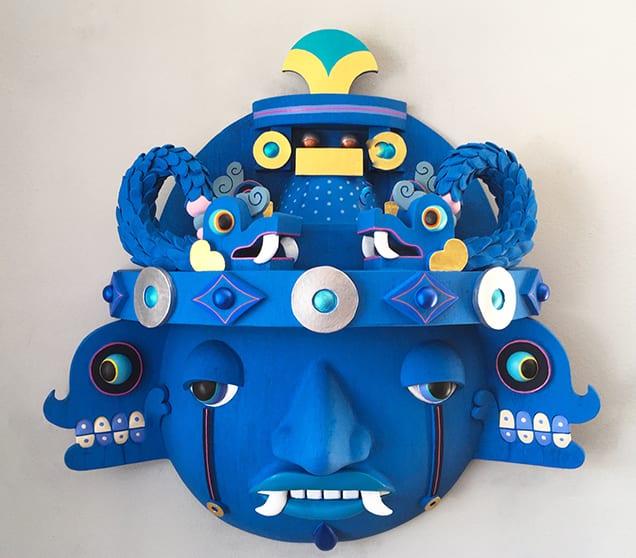 Blue mask web