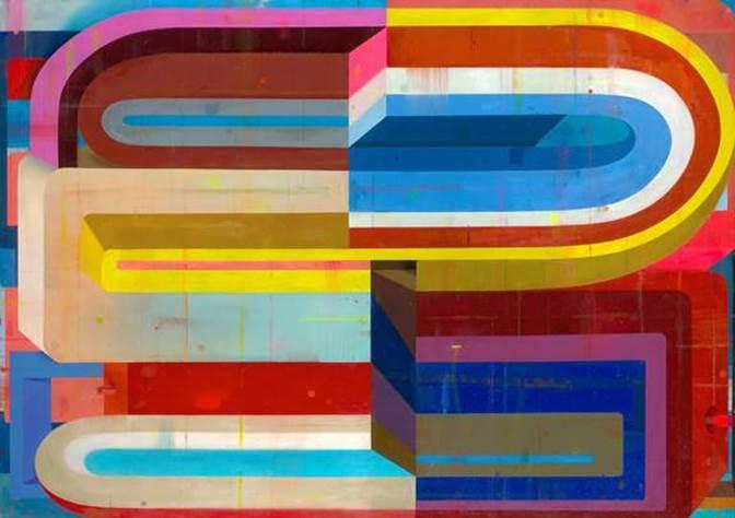 Debra Zlotsky, Evidence oil on canvas 48 x 68 in.
