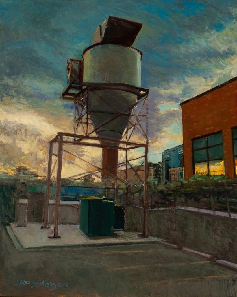 Sunset on Blake Street #2, 20 x 16 Oil on Panel